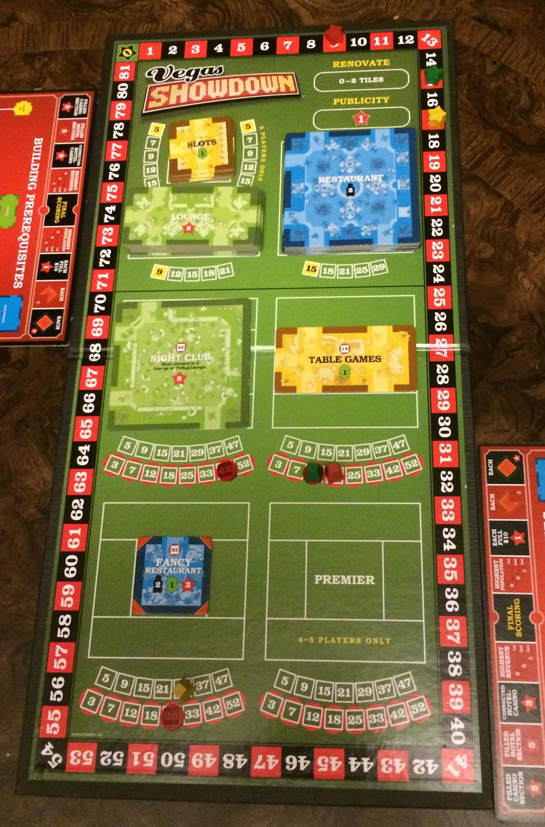bidding for tiles in Vegas Showdown