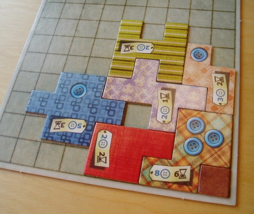 Part of the fun of Patchwork is in solving spacial puzzles.