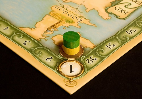 Thebes uses a novel time mechanic to determine player order.