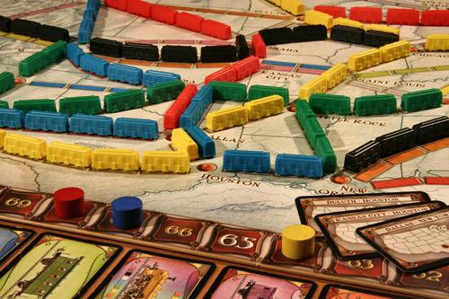 Part of the fun of Ticket to Ride comes from watching beautiful patterns emerge on the board.