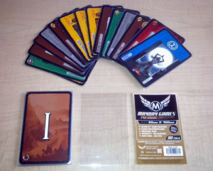 In drafting games like 7 Wonders, a player's first choice often has the most options but the least direction, potentially overwhelming new players. Image from Board Game Geek.