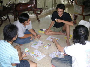 Games with trading (a form of negotiation), such as Bohnanza, feature lots of interaction. Image from Board Game Geek.